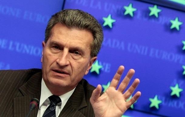 Эттингер: Предложение перенести закупку российского газа требует пересмотра транзитных контрактов