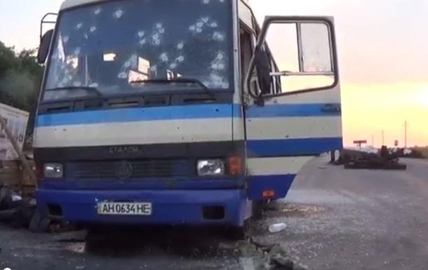 На въезде в Донецк сепаратистами обстрелян автобус Правого сектора - СМИ