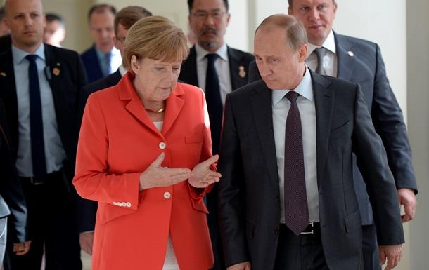 Меркель ждет объяснений от Путина по поводу возможных поставок вооружения на Донбасс