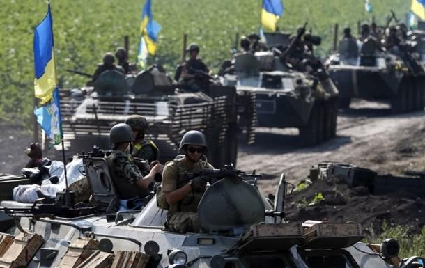 Силы АТО наступают на шесть городов,  ополченцы  сообщают об уничтожении 32 единиц военной техники