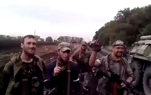 СНБО показал видео с кавказцами на Донбассе