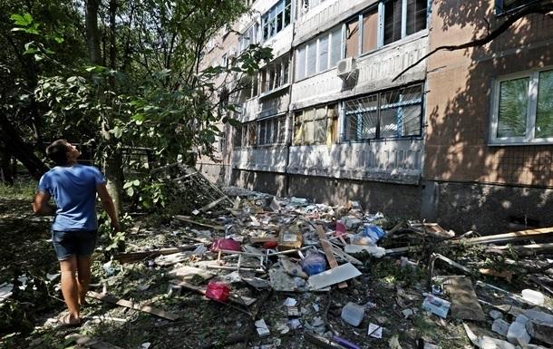 В Донецке остаются обесточенными более трех тысяч домов и выставочный комплекс