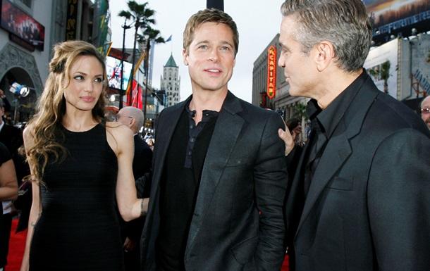 Джордж Клуні привітав Джолі і Пітта з весіллям