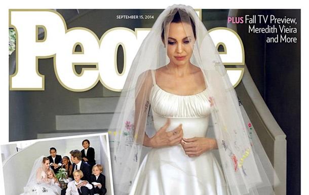 Свадебное платье Анджелины Джоли - вото