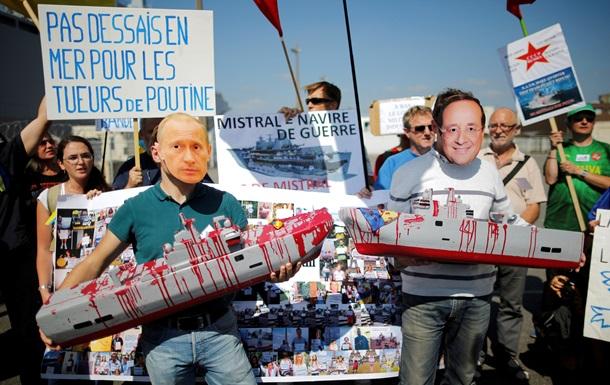 Во Франции митинговали против передачи Мистралей России