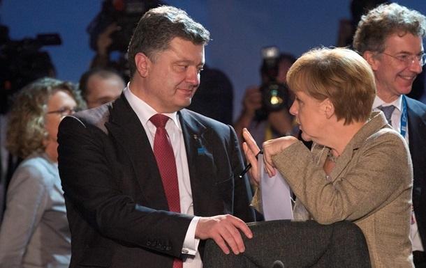 Порошенко и Меркель скоординировали действия по евроинтеграции Украины