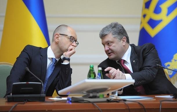 Больше всего украинцы доверяют главе государства и премьер-министру