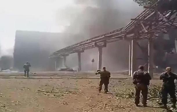 Обнародовано видео с попавшей под обстрел Луганской ТЭС