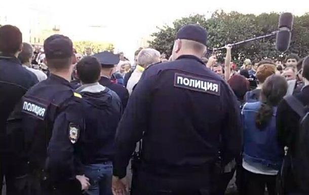 На Марше мира в Петербурге начались задержания