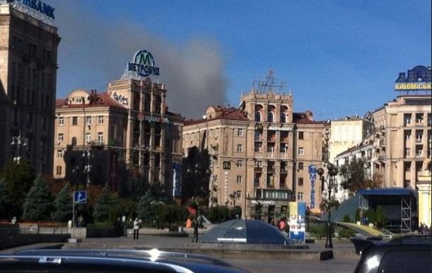Центр Киева оказался в дыму из-за пожара в жилом доме