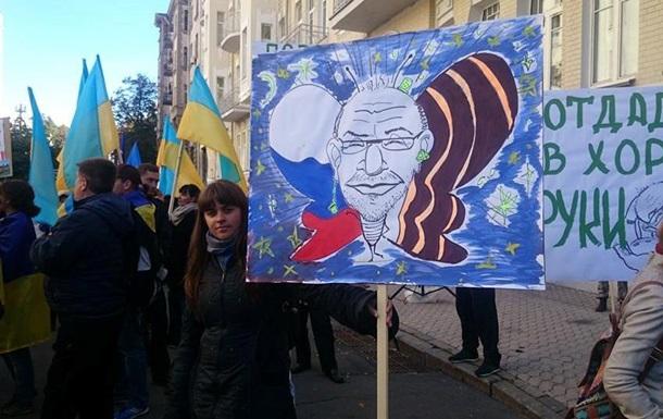 Харьковчане перекрыли центр Киева, требуя отставки Кернеса