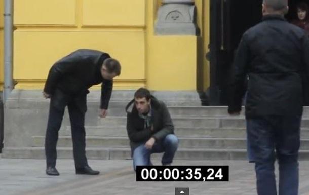 В Киеве повторили скандальный эксперимент Человеку плохо