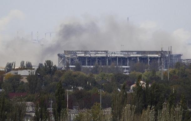 В одном из терминалов Донецкого аэропорта начался пожар