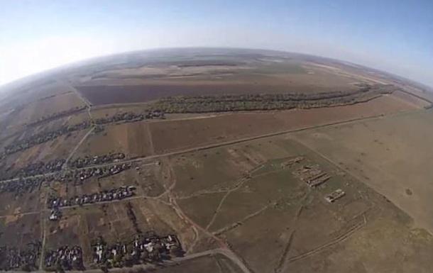Воздушная разведка: видео с украинского беспилотника