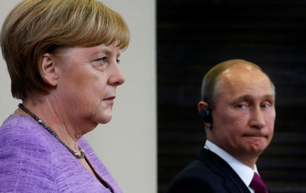 Меркель отменила встречу с Путиным в Сочи - СМИ