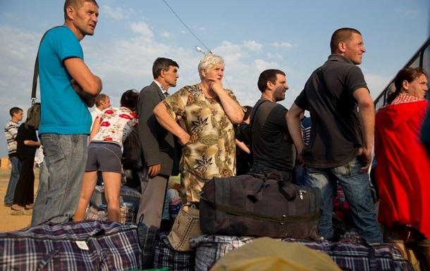 Беженцы из Донецкой и Луганской