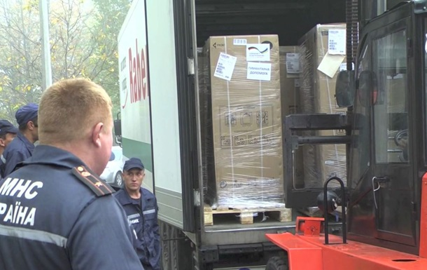 В Запорожье привезли 8 машин гуманитарной помощи из Германии