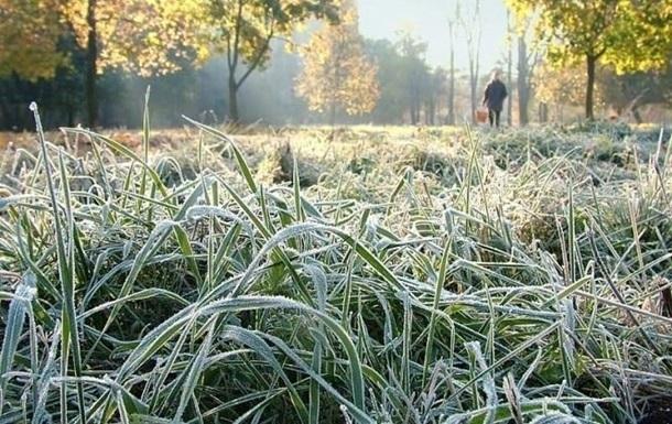 В Украине на выходных ожидаются ночные заморозки