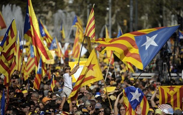 В Барселоне проходит митинг за независимость Каталонии