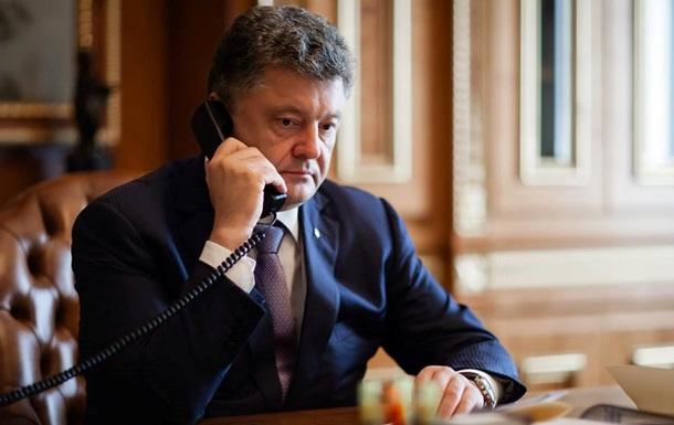 Порошенко обсудил с Путиным прекращение огня на Донбассе