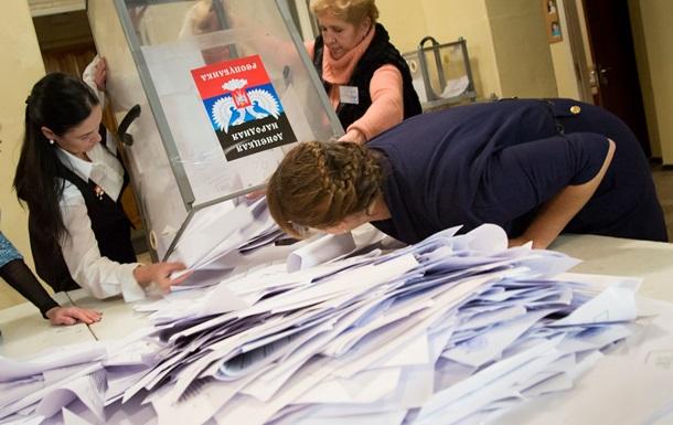 Завершилось голосование за глав  республик  Донбасса