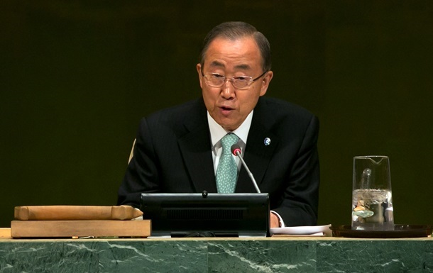 Генсек ООН обеспокоен ситуацией в Украине
