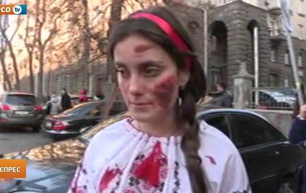 Я гину!  Під АП відбулася акція на захист української мови