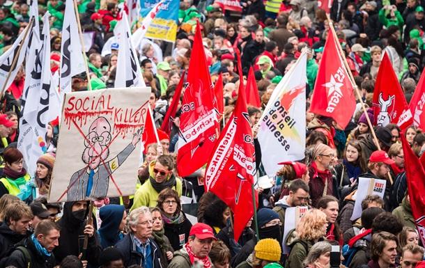 Жители Бельгии протестуют против мер жесткой экономии