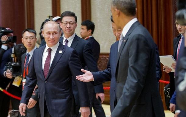 Путін та Обама коротко поговорили про Україну в Пекіні