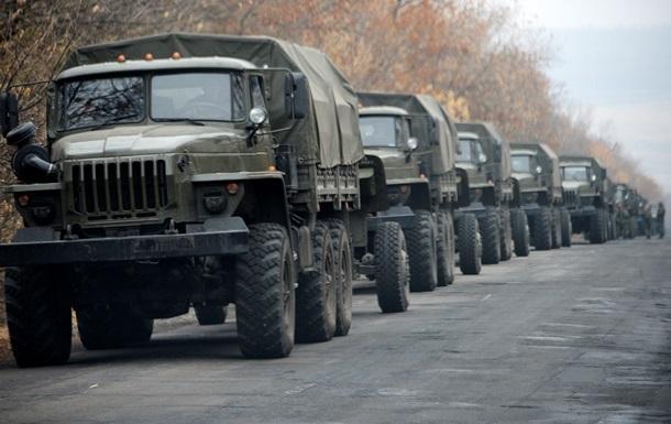 ОБСЕ зафиксировала три колонны военной техники на Донбассе