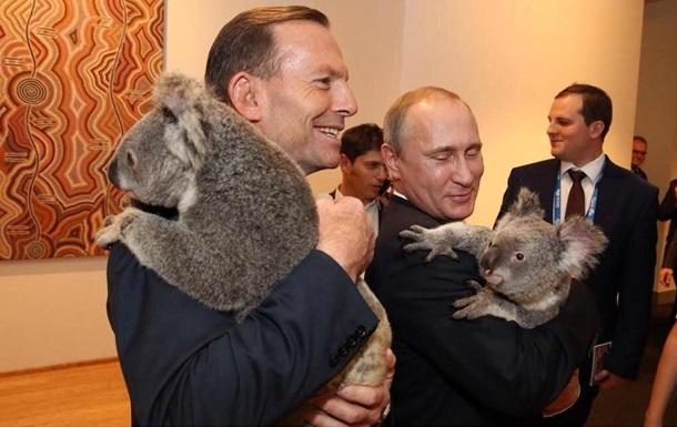 Путін і Еббот сфотографувалися з коалами