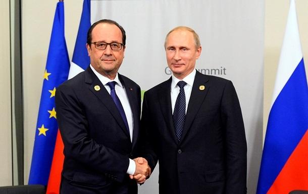 Олланд розповів, про що дискутував з Путіним