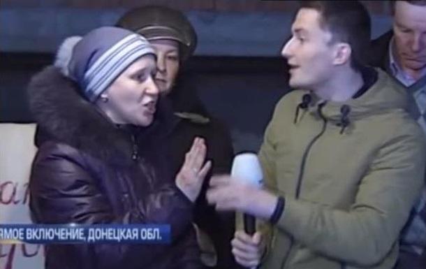 Жительница Дебальцево в прямом эфире обвинила силы АТО в обстрелах города