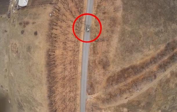 Охота за танком. Обнародовано видео с разведывательного беспилотника