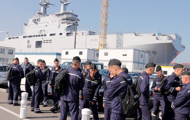 Россия оставит экипаж Мистраля во Франции до передачи корабля