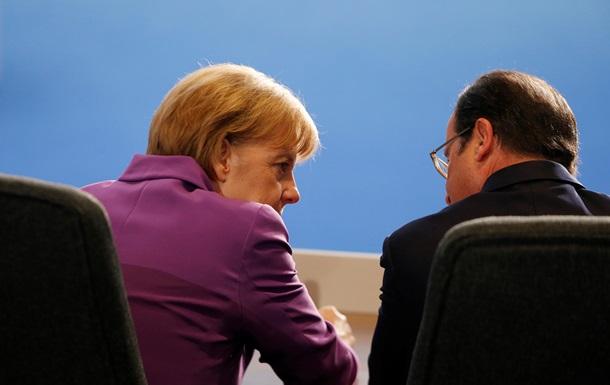 Меркель и Олланд обсудили перспективы разрешения конфликта в Донбассе