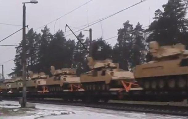 По Латвии проехал состав с американскими танками - СМИ