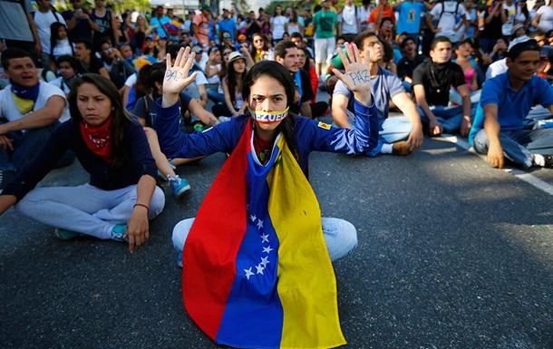 В Венесуэле протестуют против санкций США