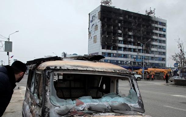 Будинок друку в Грозному, який постраждав від терактів, майже відновили