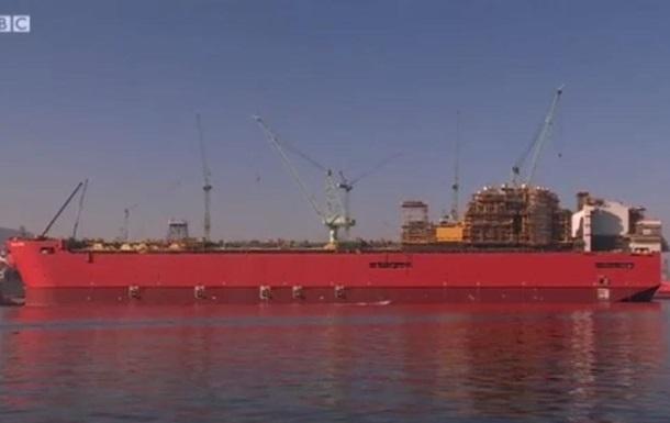 В Корее строят гигантское судно для добычи газа