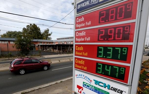 Ціни на бензин в США впали до мінімуму з 2009 року