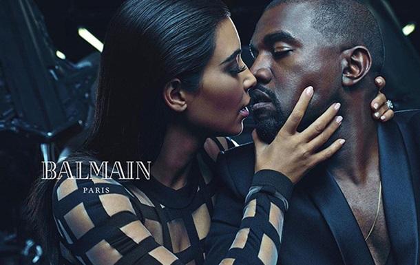 Ким Кардашьян снялась для новой рекламы вместе с мужем
