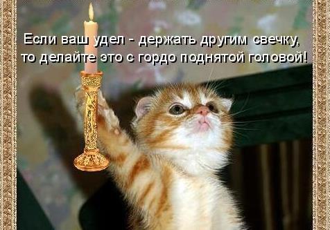 Тушите свет, держите свечку