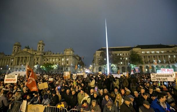 В Венгрии прошла антиправительственная демонстрация