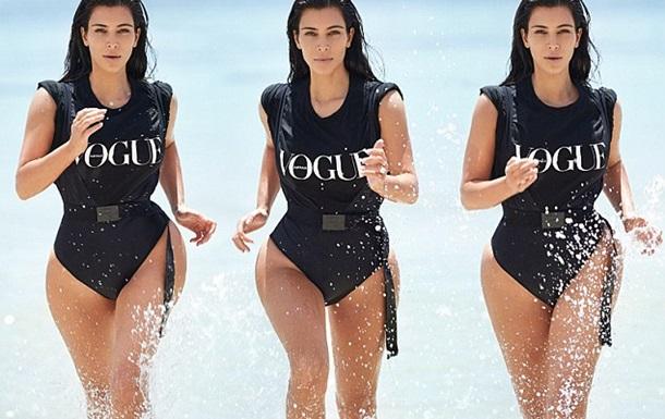Кім Кардашьян знялася в купальнику для австралійської версії Vogue