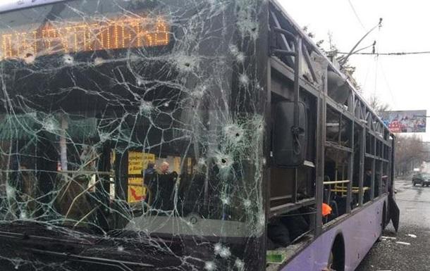 В Донецке снаряд попал в остановку, погибли 13 человек