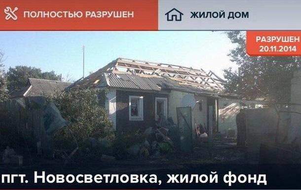 Появилось приложение для мониторинга разрушений на Донбассе