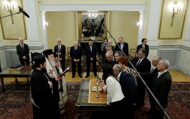 Новий уряд Греції склав присягу