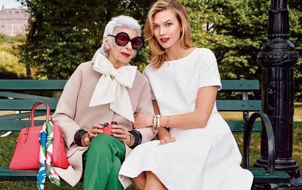 Лицом американского бренда стала 93-летняя модель