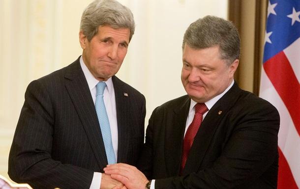 Керри напомнил Порошенко об обещании дать Донбассу особый статус